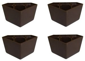Profurnitureparts Tall Triangle Corner Sofa Legs Brown Color Set Of 4 Hdpe
