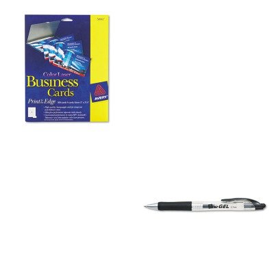Avery Business Pen - KITAVE49988AVE5881 - Value Kit - Avery Print-to-the-Edge Two-Sided Business Cards (AVE5881) and Avery eGEL Roller Ball Retractable Gel Pen (AVE49988)