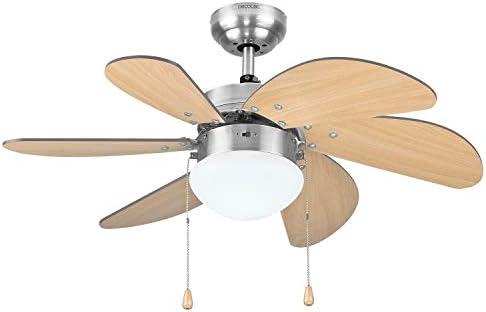 Cecotec Ventilador de Techo EnergySilence Aero 350. 81 cm de Di‡metro, Luz, 6 Aspas Reversibles, 3 Velocidades y Funci—n Invierno, 50W: Amazon.es: Hogar