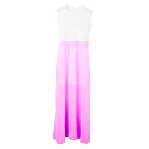Women Purple Fashion Dress Sundress Dress Long Summer Sexy Bonboho Lace Light Chiffon ZcdqCwdP