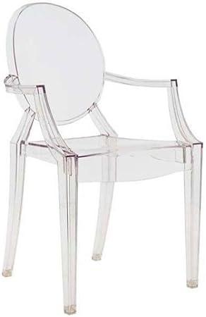 Kartell Louis Ghost Sedia, Confezione da 4 Pezzi, Cristallo, trasparente, plastica