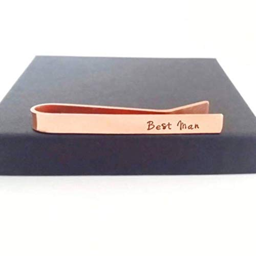 Personalised Copper Tie Clip Groom Gifts Wedding Party Gifts For