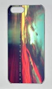 The Beauty of the Evening Sunset on the Lake DIY Hard Shell Transparent iphone 5/5s Case Perfect By Custom Service