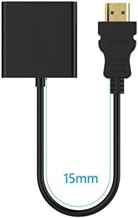 ultrabook et autres appareils entr/ée HDMI Noir haodou Adaptateur HDMI vers VGA 1080p Full HD convertisseur C/âble pour projecteur TV, lecteur DVD Chromebook MacBook ordinateur portable