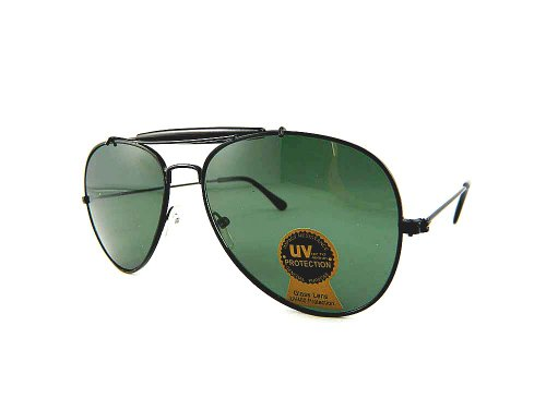 New Promotional Teardrop Aviator Sunglasses With Eyebrow Pad - Military Green Lens - Lv Womens Sunglasses