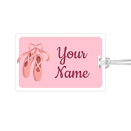 Ballerina Tag - Kids Labels Waterproof, Durable Personalized Large Tag Ballet Shoes Design