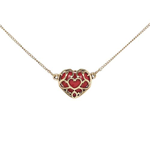 Zelda Encased Recovery Heart Collar Choker Charm Necklace