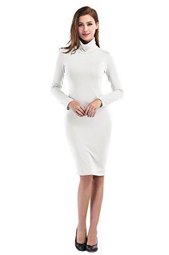 khaki and white dress - 6