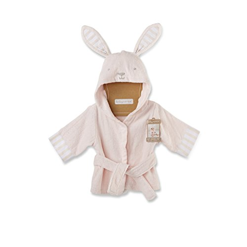 Baby Aspen Baby's Bath Time Bunny Hooded Spa Robe, Pink, 0-9 - Bunny Towel Bath Baby