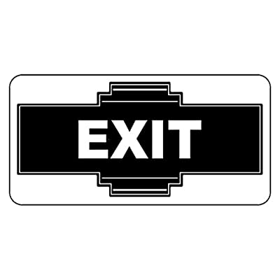 Crazy Discount Aluminum Sign Exit Black Retro Vintage Style Metal with Holes 8 in X 12 in