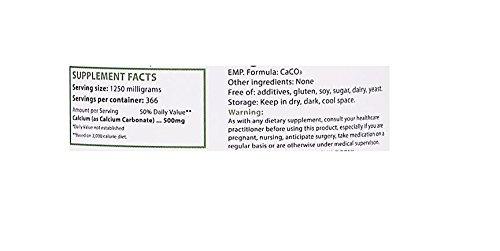 Polvo de carbonato de calcio, grado farmacéutico, 1lb-454g, pureza más alta Piedra caliza: Amazon.es: Salud y cuidado personal