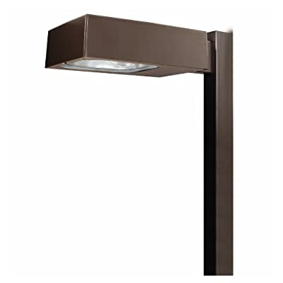 """Lumark MPTR2325 Tribute Site Luminaire, 250W, MP, Multi-Tap, TYPE III Tribute, 8"""" Square Pole Arm and Round Pole Adapter Lamp, Bronze"""