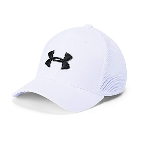 Under Armour Boys' Golf Classic Mesh 2.0 Cap, White (100)/Black, Youth Small/Medium