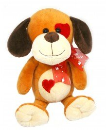 """Soft Stuffed Animals Plush Toy Animals 9.5"""" Puppy Dog with Heart Valentine's Day Gift for Girlfriend, Boyfriend or Best - At Outlets Woodstock"""