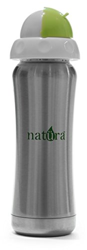 Natural StainlessSteel Infant Baby Sippy Bottle by Natüra High Quality with Naturally Feeling Silicone Straw Insulated and Double-Wall Antibacterial Stainless BPA Free 12 Month +, FDA Approved (Philips Advent Starter Set compare prices)