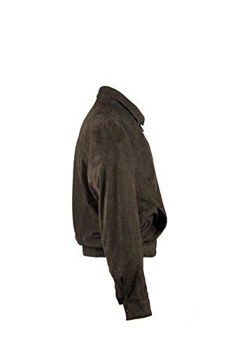 Chaqueta Cuero Zerimar Piel Hombre Ante chaqueta Cazadora De Marron dtFZqnFx