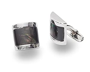 Sterling Silver Cufflink with Mother Of Pearl (MOP)
