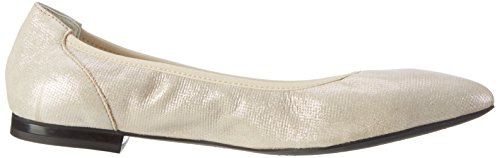 Geox Womens W Rhosyn 20 Balletto Champagne Piatto