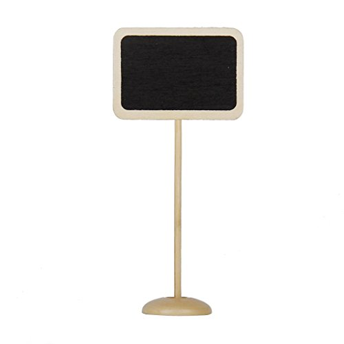 Wooden Rectangle-Shaped Blackboard with Base - 4