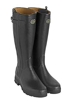 Le Chameau Women's Chasseur Leather Lined Boots Black Black Size: 5