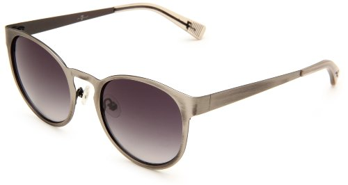 7 For All Mankind Winnetka Round Sunglasses,Pewter Frame/Grey & Grey Lens,One - Glasses All Seven For Mankind