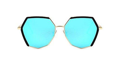 Métallique Inspirées Bleu Glacier du Hommes Steampunk et Cercle Style Polarisées Lunettes Soleil de Pour Retro en Rond Femmes twxFqcHvaI