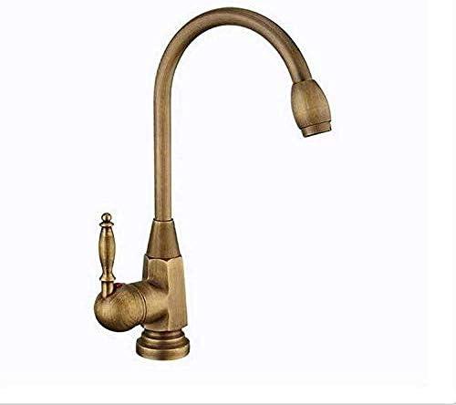 ZT-TTHG タップ浴室タップ流域の蛇口レトロ蛇口すべての銅温水と冷水のミキサーのタップヨーロピアンスタイルのアンティークシングルヘッド盆地タップ