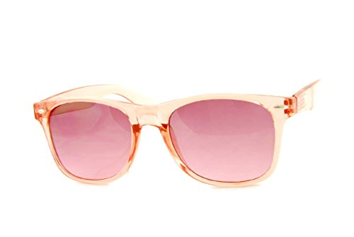 Wayfayer Sunglasses - Blue Lens Classic Trend Colored Frames Eyewear Trend 100% UVA UVB Protection UV400 (Pink, - Sunglasses Wayfayer