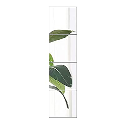 """FANYUSHOW Frameless Rectangula Wall Mirror 11.8"""" x 4Pcs,for Vanity Bathroom, Entrance, Living Room, Bedroom … - {1}Size: 12.x 12 inch in each mirror tile, 3mm thickness, set of 4 frameless real glass mirrors. Advanced polishing technology makes safe and delicate beveled edges {2}Easy to install: Package coming with powerful double sided foam tape and mirror holders set, meet two needs, convenient and stable to install. Foam tape would NOT DAMAGE to the wall surface, how to install please refer to our picture DIY free combination: Three, four or more pieces mirror tiles can be combined as you wish, whatever square, rectangle or in other shapes. {3}Not only a door mirror or body mirror also can be a great home décoration to enlarge your room and brighten a dark wall Mirrors in multi-functions: Suitable for being installed on smooth walls, latex paint wall, smooth light hole ceramic tile walls, glass, furniture or wooden doors - mirrors-bedroom-decor, bedroom-decor, bedroom - 31Rv7laBsaL. SS400  -"""