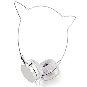 Skinny Dip London Headphones (Silver Kitty)