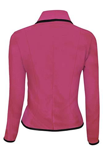 Ufficio Corto Blazer Casuale Donna Manica Slim Bavero Business Primaverile Tailleur Di Rosered Prodotto Da Fit Camicia Eleganti Moda Plus Autunno Giacca Lunga Cappotto nvwU8Fxa