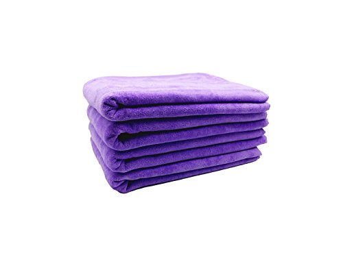 robesale Cotton Velour Towels for Bath, Lavender, Set of 4 ()