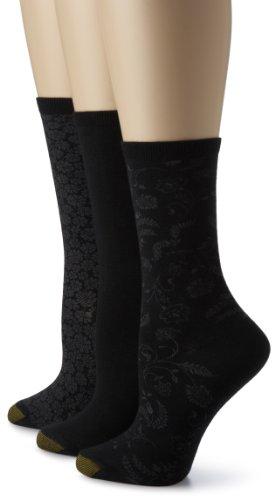 Gold Toe Women's Fashion Pack D,Black,9-11