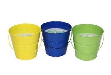 Patio Essentials Citronella Painted Bucket 18 Ounce Candle 3 Pack