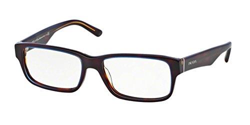 (Prada PR16MV ZXH1O1 Eyeglasses Tortoise Denim 53mm)