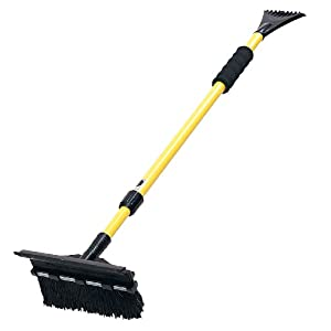 "Subzero 2610XM 52"" Super Extender Snow Broom with Integrated Squeegee Head and Ice Scraper (Colors may vary)"