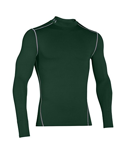Under Armour Men's ColdGear Armour Compression Mock Long Sleeve Shirt, Forest Green /Steel, XXX-Large by Under Armour (Image #3)