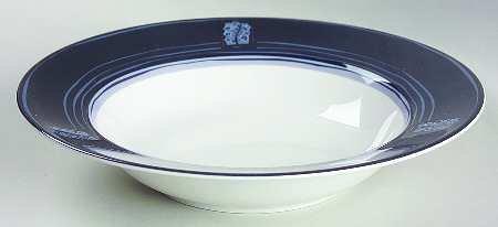 Sasaki Japan Indigo Blue Rimmed Soup Bowl