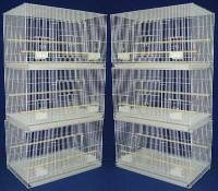 (Brand New Lot of SIX Aviary Breeding Bird Cage Cages 24x16x16WHITE)