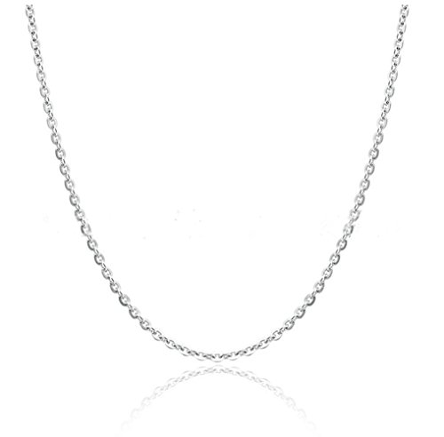 Nonnyl Silver Chain Cross Chain 1.0mm Chains S925 Sterling Silver Cross Chain Necklace 16-24