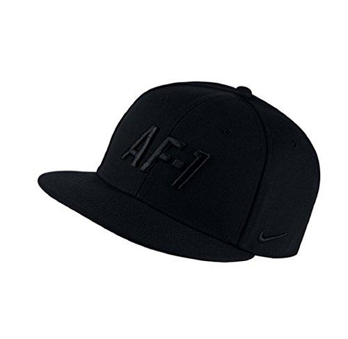 897cef61b1e45 NIKE Sportswear Air Force 1 Men's True Cap Hat Black Adjustable Snapback