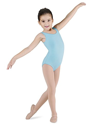 - Bloch Girls' Dynamic microlux Tank Leotard, Pastel Blue, 6X-7