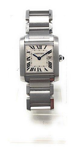 Cartier Tank Francaise quartz womens Watch 2465 (Certified Pre-owned)