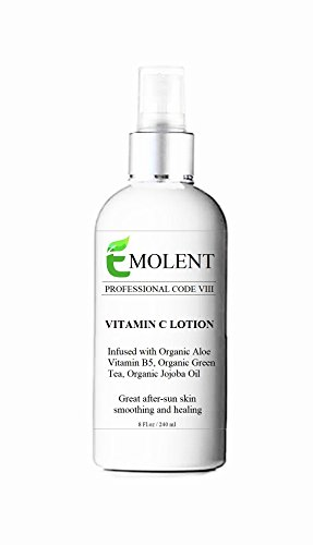 EMOLENT, PROFESSIONAL CODE VIII,VITAMIN C LOTION, (15% - With Shea Butter & Jojoba Oil) - 65%ORGANIC - WHOLE FOODS - LVC,(Package may vary), 8 Fl.Oz