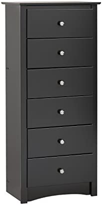 picture of Black Sonoma Tall 6 Drawer Chest