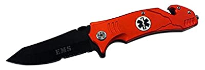 Tactical Spring Assisted Folding Pocket Knife w Strap Cutter