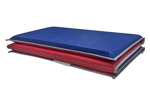 (KinderMat Basic Rest Mat, Great for School, Daycare, Travel, or Home - 4 Sections Unfold to 19