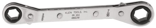 Wrench Ratcheting Klein Box (Fully Reversible Ratcheting Offset Box Wrench, 3/8 by 7/16-Inch Klein Tools 68236)