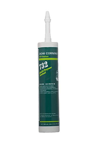 Expired Dow Corning 732 Multi-Purpose Silicone Sealant - 12 Tubes (Case) Aluminum Dow Corning Silicone Rubber