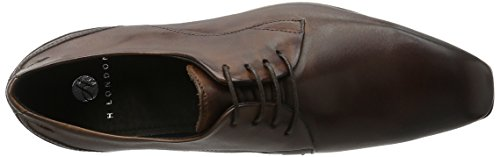 Hudson London Kay Calf Brown, Scarpe Stringate Uomo Marrone (Brown)